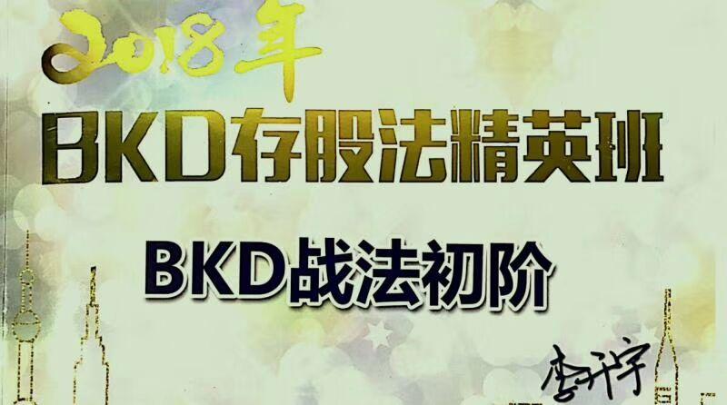 李开宇BKD存股法2018春季精英班课程