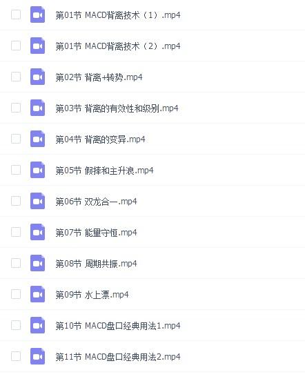 冯矿伟MACD精华视频全集