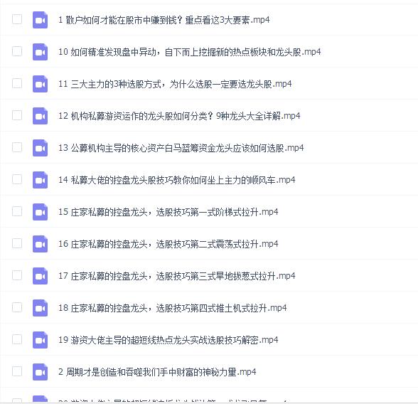 张馨元短线游资实战训练营