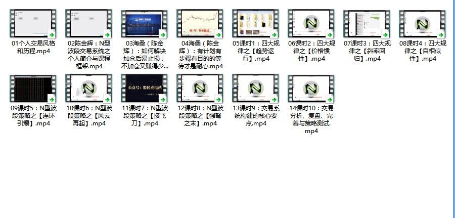 海桑(陈金辉)N型波段交易系统视频课程