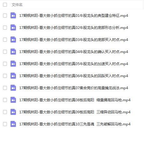 江宇龙枫林阳17期-看大做小抓住细节的真