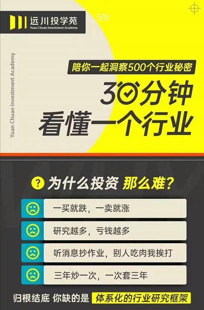 远川投学苑30分钟看懂一个行业
